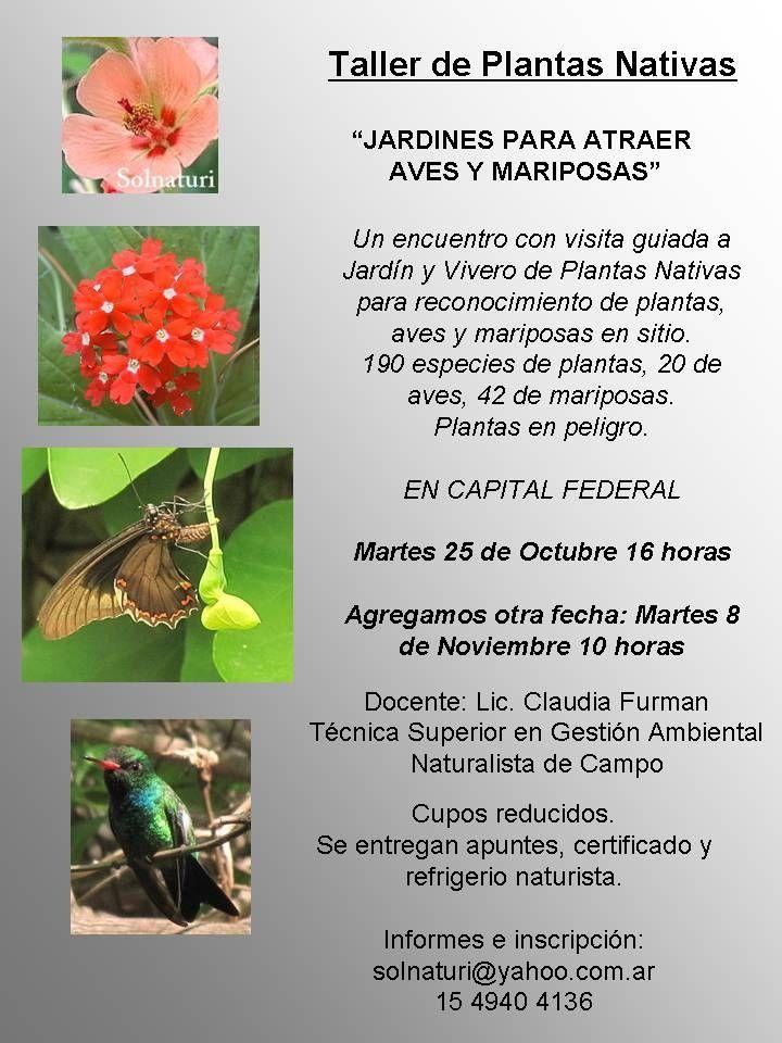 Taller jardines para atraer aves y mariposas for Vivero plantas nativas