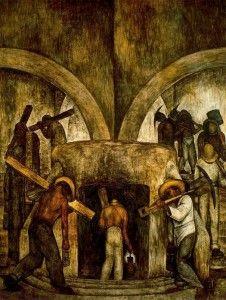 entrada a la mina Diego Rivera