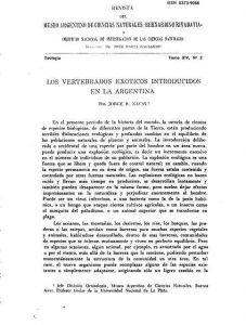 Vertebrados exóticos introducidos en la Argentina
