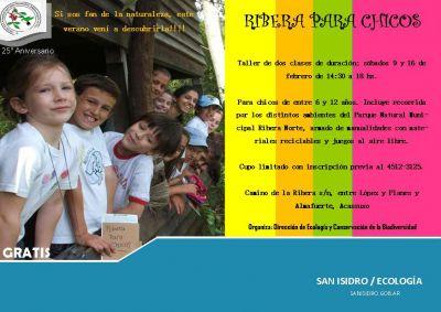 Flyer ribera para chicos febrero 2013