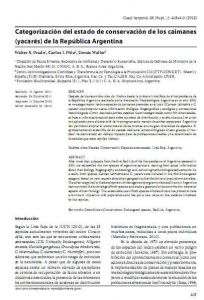 Categorización del estado de conservación de los caimanes (yacarés) de la República Argentina