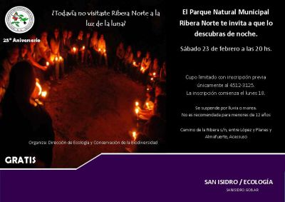 Visita guiada nocturna al Parque Natural Municipal Ribera Norte